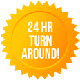 24 hour turn around icon